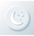 Moon 3D Paper Icon vector image