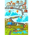 Mountains Road Map Poster vector image