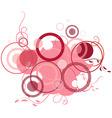 pink banner consisting of circles vector image