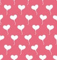Pink Seamless Pattern with Hearts Balloons for vector image