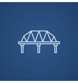 Rail way bridge line icon vector image