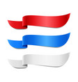 red blue and white ribbon banners vector image