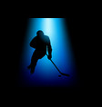 silhouette of a hockey player vector image