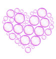 soap bubbles heart vector image