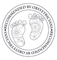 Stamp recommended by obstetricians vector image