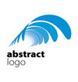 abstract logo spectrum curved sheets vector image
