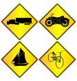 metallic transport signs set vector image