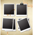 A group of frames vector image