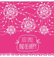 Greeting card Just smile and be happy vector image