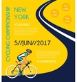 cycling competition or race poster vector image