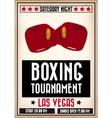 boxingposter vector image