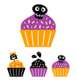 Happy Halloween Trick or Treat candy collection vector image
