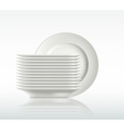 porcelain plates on a white background vector image