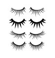 two eyes eyelash extensions set vector image