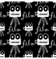 seamless pattern with cameras vector image