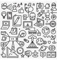Web thin line icons set vector image vector image