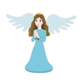 cute angel character vector image