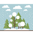 Winter forest vector image vector image