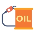 Oil barrel with gas pump vector image