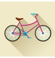 Bicycle icon in flat style Image for web banners vector image