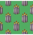 Blue Yellow Wax Candles Seamless Pattern vector image