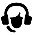 Face with headset vector image