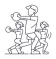 fitness peoplegym line icon sign vector image