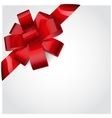 Red bow 4 vector image