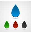 Set of abstract 3d colorful drops vector image