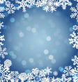 Snowflakes Winter seamless border seamless texture vector image