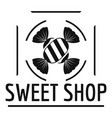sweet shop logo simple black style vector image