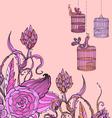 flower tender card vector image vector image