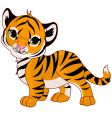 walking baby tiger vector image