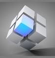 3d cube design vector image