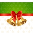 Christmas Bell Card Backround vector image