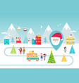 christmas holidays park street food and winter vector image