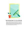 Flat windows cleaner concept vector image