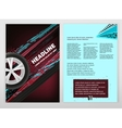Grunge Tire A4 template 02 A vector image