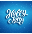 Holly Jolly Merry Christmas vector image