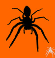 Spider silhouette vector image