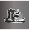 Truck black and white vector image