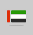 UAE flag stylized flag of United Arab Emirates vector image