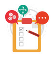 clipboard review call center support vector image