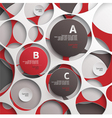 Background of circles vector image