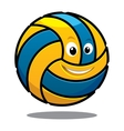 Happy colourful bouncing volleyball ball vector image vector image