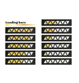 gold loading bars vector image