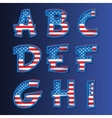 USA alphabet on a blue background vector image