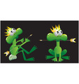 king frog cartoon vector image