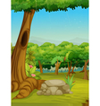 Forest scene vector image vector image