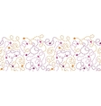 Abstract thread stitches horizontal seamless vector image
